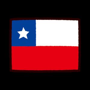 国旗のイラスト(チリ)