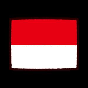 国旗のイラスト(インドネシア)