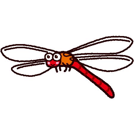 赤とんぼのイラスト