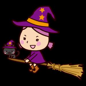ハロウィンのイラスト(魔女)