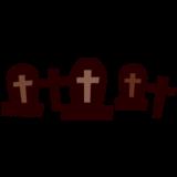 ハロウィンのイラスト(シルエット・墓地))