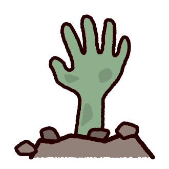 ハロウィンのイラスト(ゾンビの手)
