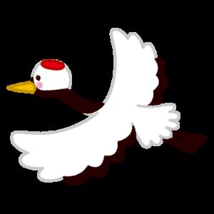 鶴のイラスト