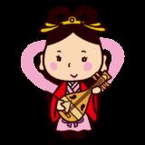 七福神のイラスト(弁財天)