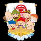 七福神のイラスト(宝船)