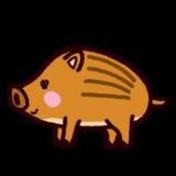イノシシのイラスト(うり坊)