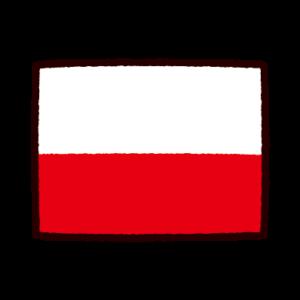 国旗のイラスト(ポーランド)