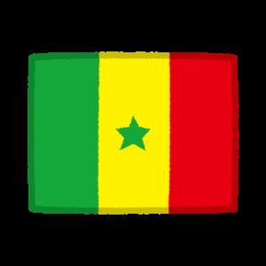 国旗のイラスト(セネガル)