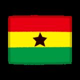 国旗のイラスト(ガーナ)