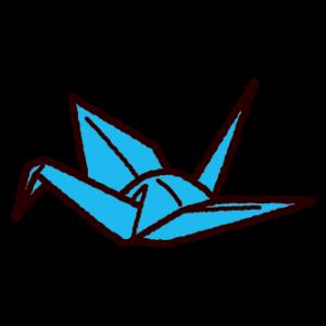 折り紙のイラスト(鶴)