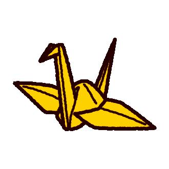 折り紙のイラスト鶴 イラストくん