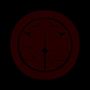 家紋のイラスト(竹紋・竹に雀)