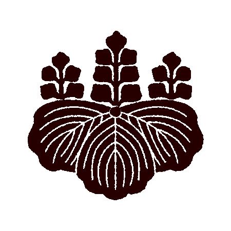 家紋のイラスト(桐紋・五三桐・五七桐)