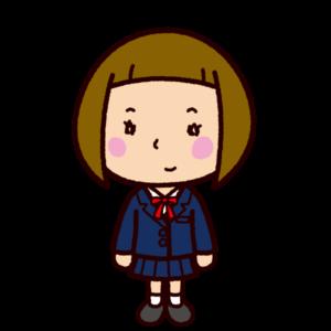 学生のイラスト(女子ブレザー)