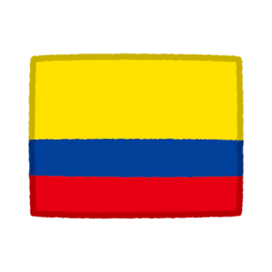 国旗のイラスト(コロンビア)