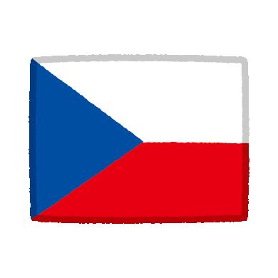国旗のイラスト(チェコ)