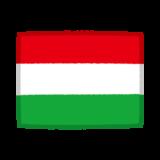 国旗のイラスト(ハンガリー)