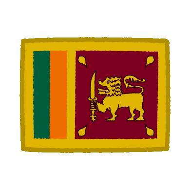 国旗のイラスト(スリランカ)