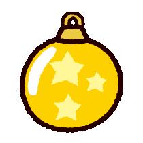 クリスマスのイラストオーナメント イラストくん
