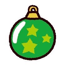 クリスマスオーナメントのイラスト