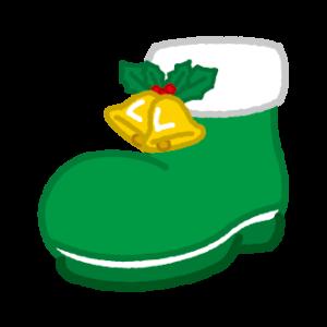 クリスマスブーツのイラスト