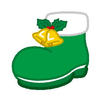 クリスマスのイラスト(ブーツ・ベル)
