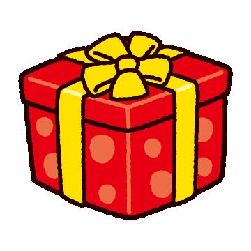 プレゼントボックスのイラスト(水玉)