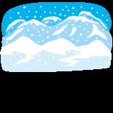 背景イラスト(雪山)
