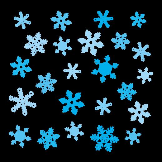 雪のイラスト(結晶)
