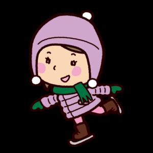 スケートのイラスト(女の子)