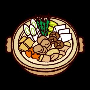 鍋のイラスト(ちゃんこ鍋)