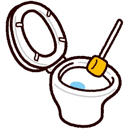 トイレ掃除のイラスト