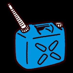ノズル付き灯油缶のイラスト(ポリタンク)