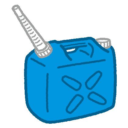 ノズルを付けた灯油缶のイラスト(ポリタンク)