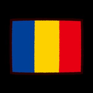 国旗のイラスト(ルーマニア)