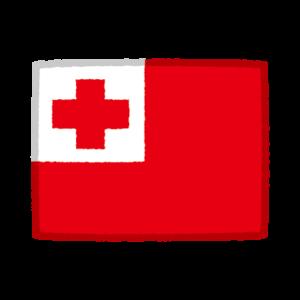 国旗のイラスト(トンガ)