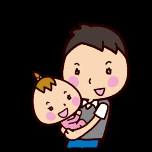 抱っこするイラスト(パパ)