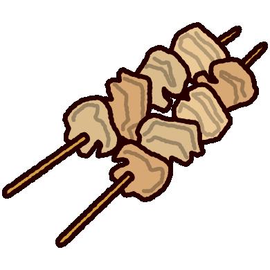 牛すじ串のイラスト(おでん)