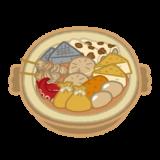 おでん鍋のイラスト