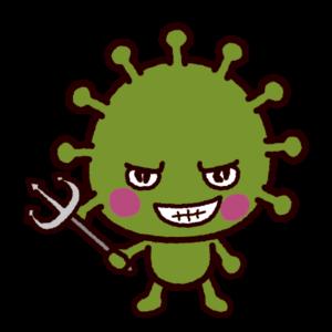 バイキンのキャラクターのイラスト(ウィルス)