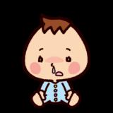 風邪のイラスト(赤ちゃん・鼻水)
