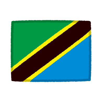 国旗のイラスト(タンザニア)