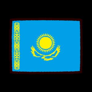 国旗のイラスト(カザフスタン)