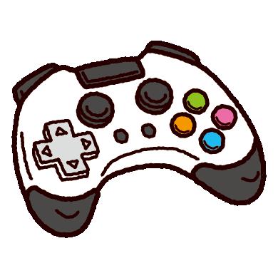 ゲーム機のコントローラーのイラスト
