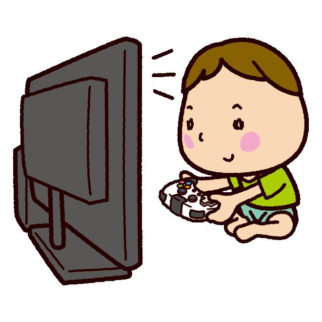 Tvゲームをする子供のイラスト イラストくん