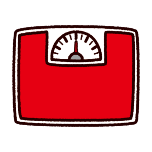体重計のイラスト(アナログ)