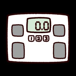 ヘルスメーターのイラスト(体重計)