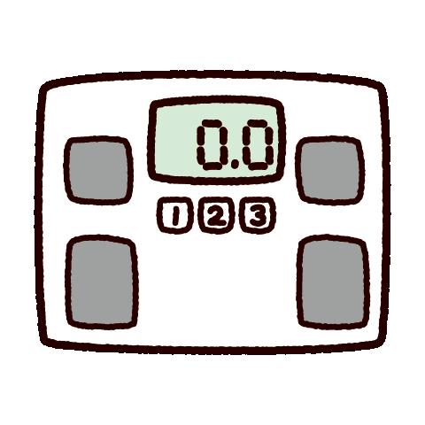 ヘルスメーターのイラスト(体重計) | イラストくん