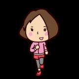 ジョギングのイラスト(女性・長袖)