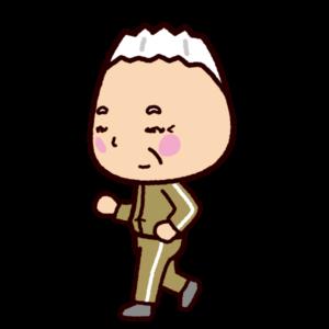 ウォーキングのイラスト(老人・男性)